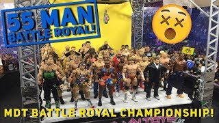 55 MAN WWE FIGURE BATTLE ROYAL! I KNOCKED OVER MY ARENA!