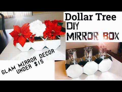 DOLLAR TREE DIY MIRROR BOX | CHRISTMAS DECOR