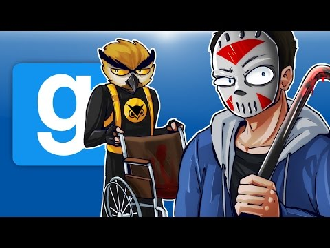 Gmod Ep. 53 PROP HUNT! - WHEELCHAIR MAFIA! (Garry's Mod Funny Moments)