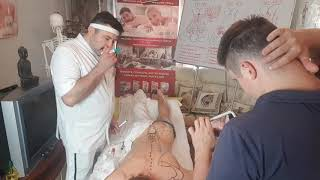 Графическая анатомия рисуем на теле человека на тренинге Олега Олафа Гудвина