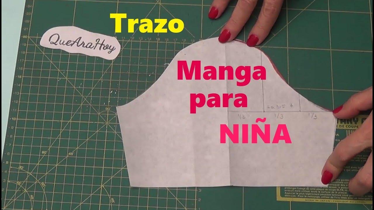 b21565d12 Como hacer manga para vestido de niña. Clase   94 - YouTube