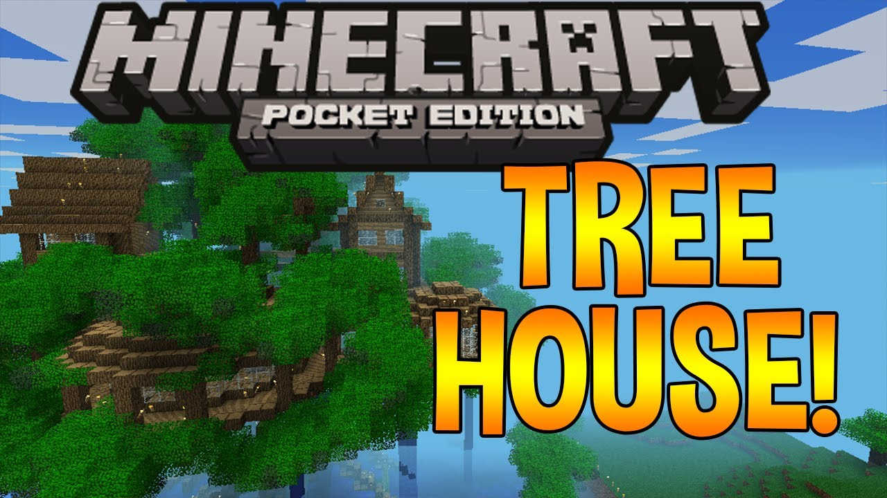 Biggest Treehouse In The World 2017 coolest tree house ever! - minecraft pocket edition - youtube