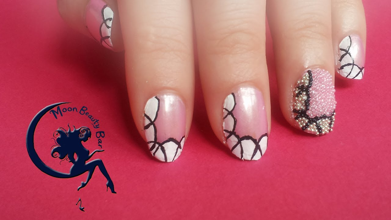 Caviar Nail Art Design - Pollen and Flowers inspired - YouTube