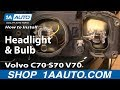 How To Install Replace Headlight and Bulb 98-00 Volvo C70 S70 V70 1AAuto.com