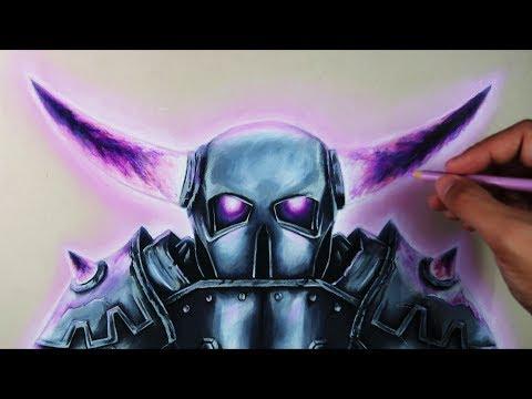 dibujando-mi-propio-fan-art-de-pekka-|-clash-royale/clash-of-clans-|-artemaster