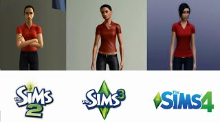 ♦ Sims 2 vs Sims 3 vs Sims 4 - CAS