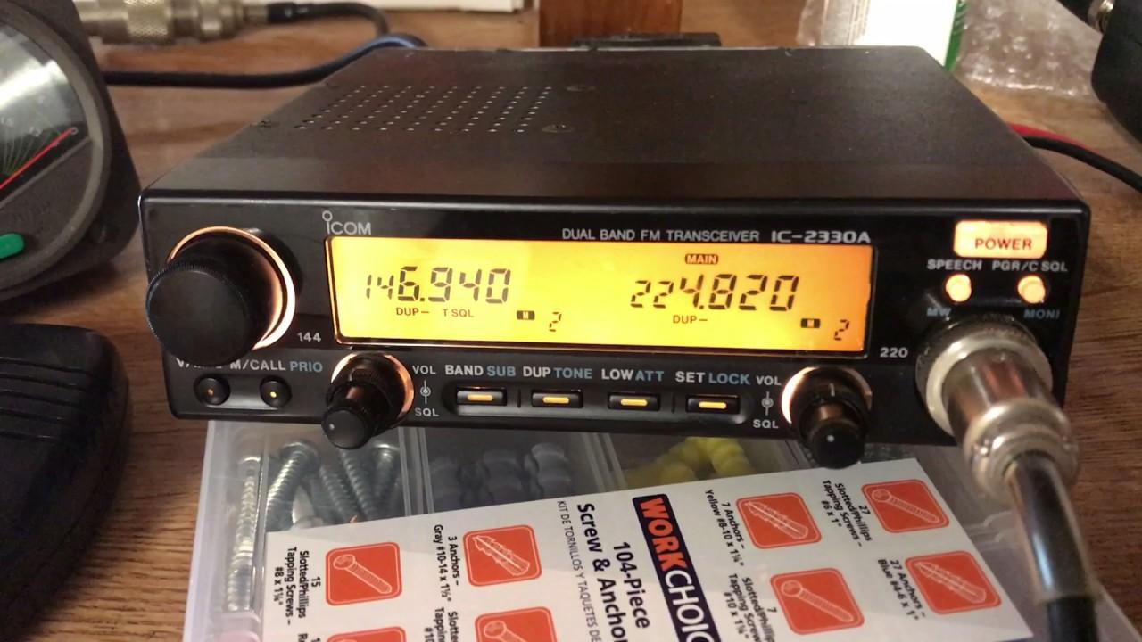 iCom IC-2330A Dual Band FM Transceiver 144/220