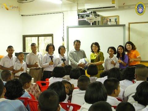 120159 คณะครู ร.ร.กฬ.นศ.แนะแนวรับสมัครนักเรียนใหม่59 แก่นักเรียนโรงเรียนสังวาลย์วิท 7