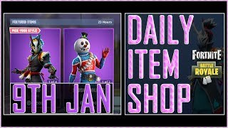 Fortnite: Daily Item Shop (9th Jan 2019) Nara & Taro Featured Skin - Battle Royale New Items