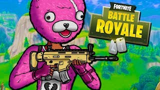 CAN THE PINK BEAR CLUTCH?! - Fortnite Battle Royale with The Crew!