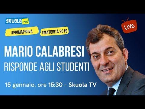 Mario Calabresi ospite della videochat