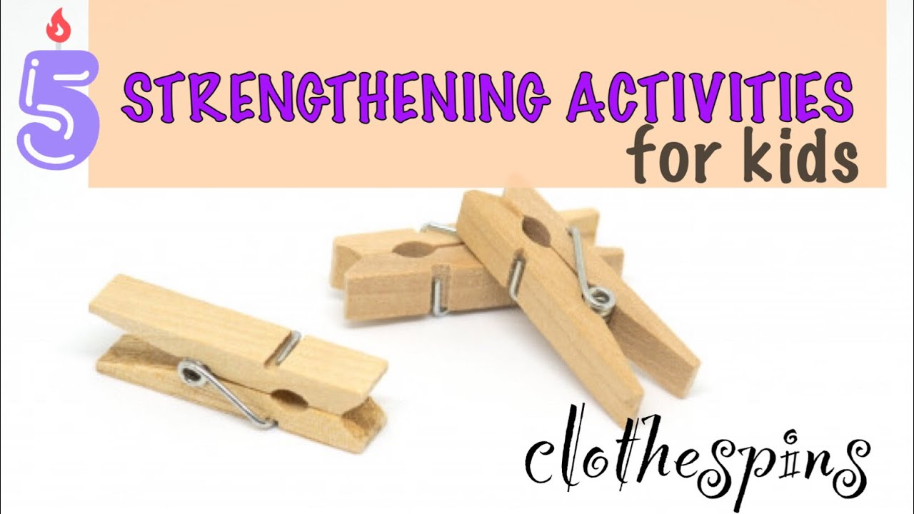 5 HAND STRENGTHENING games with Clothespins l Fine Motor Activities l Remote OT Teletherapy Ideas