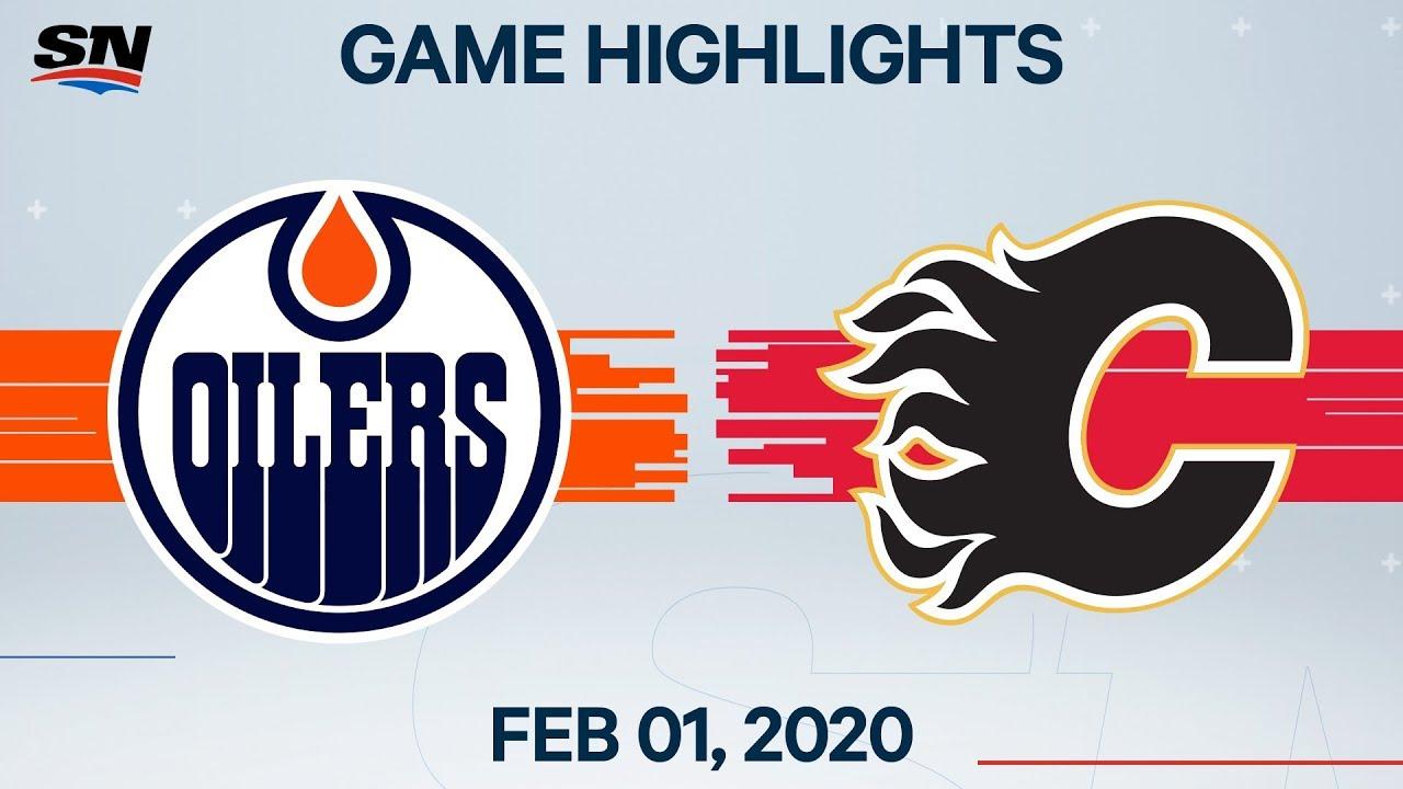 Nhl Highlights Edmonton Oilers Vs Calgary Flames Feb 1 2020 Youtube