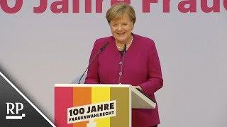 100 Jahre Frauenwahlrecht: Angela Merkel ist für mehr Frauen im Bundestag