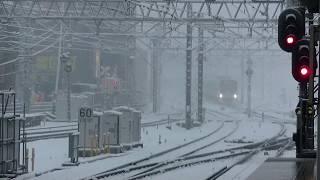 西武鉄道30103F 急行池袋行 雪の所沢到着