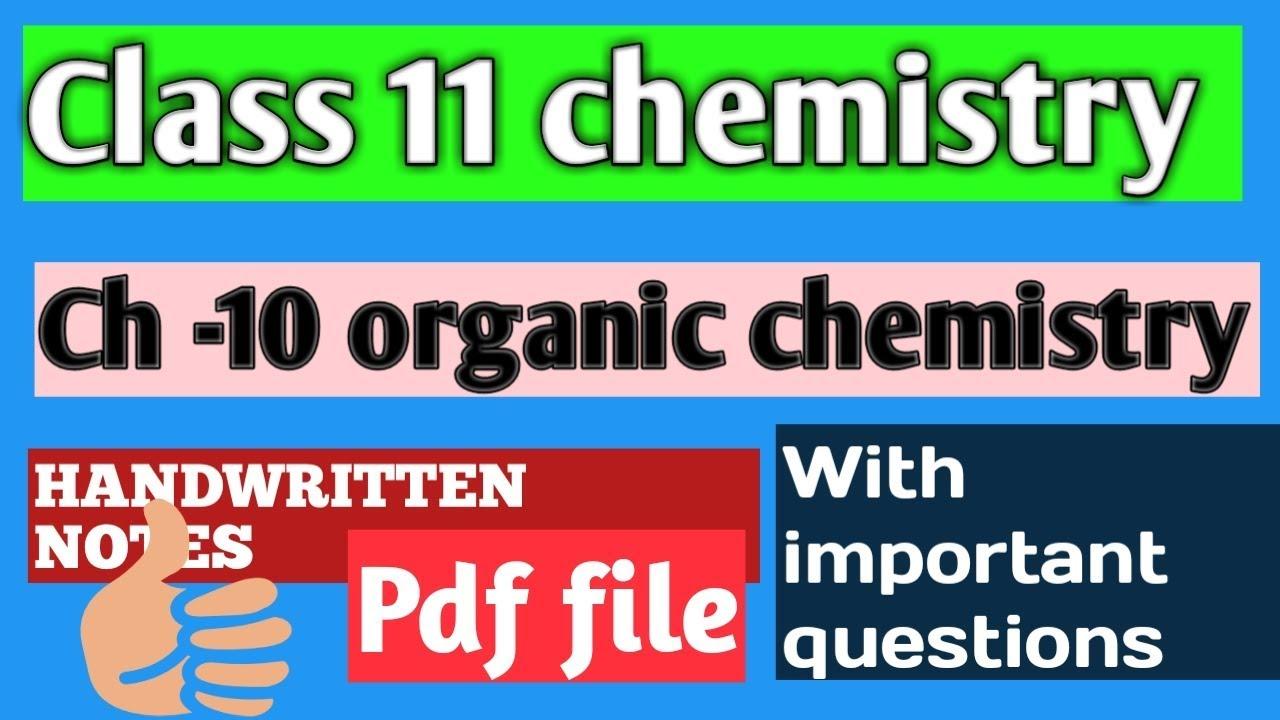 Organic chemistry class 11 || handwritten notes
