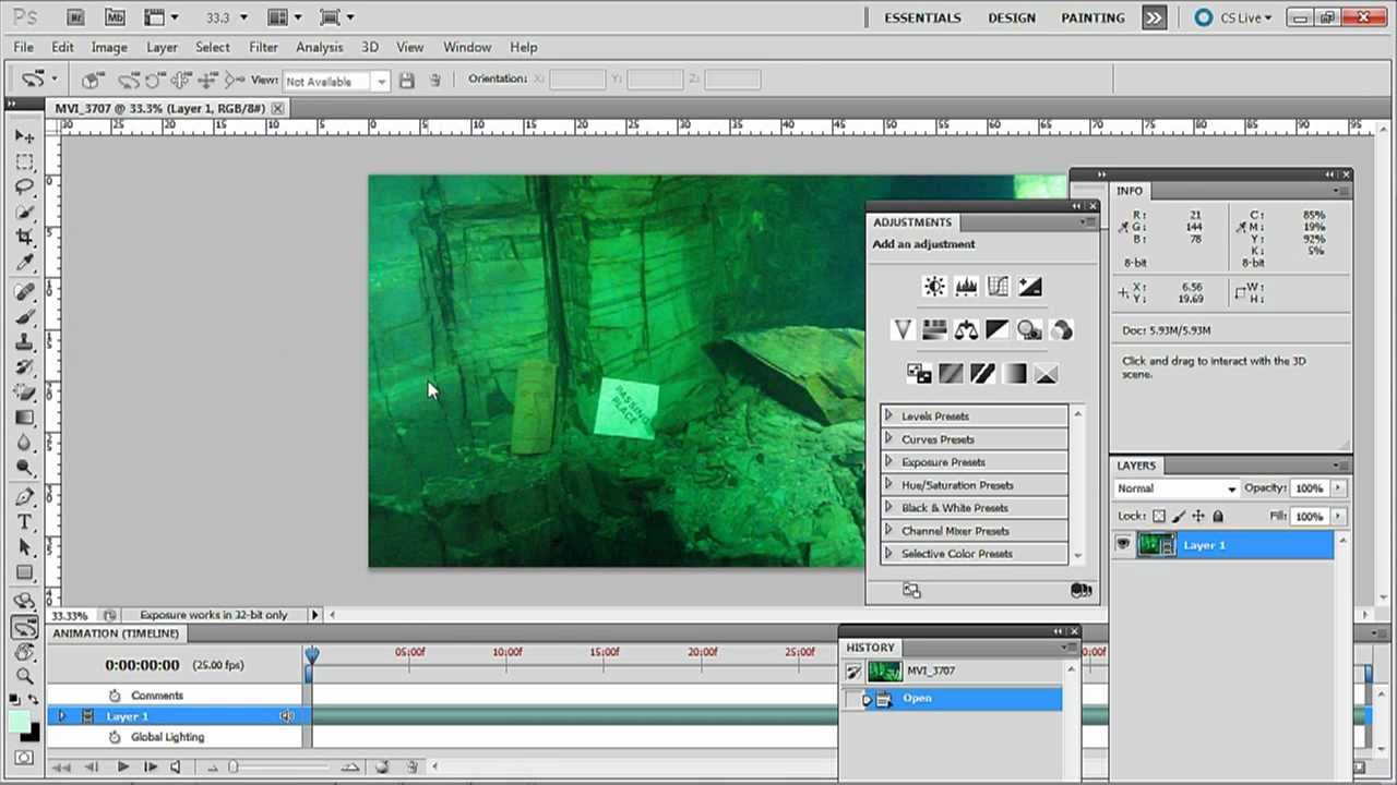 How To Correct Colour In Underwater Video Using Adobe Photoshop Cs55