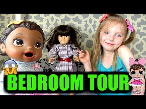 BABY ALIVE gives a ROOM TOUR. LOL SURPRISE. The Lilly and Mommy Show! The TOYTASTIC Sisters FAN MAIL