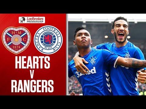 Hearts 1-2 Rangers   Gers Go Top of the League!   Ladbrokes Premiership