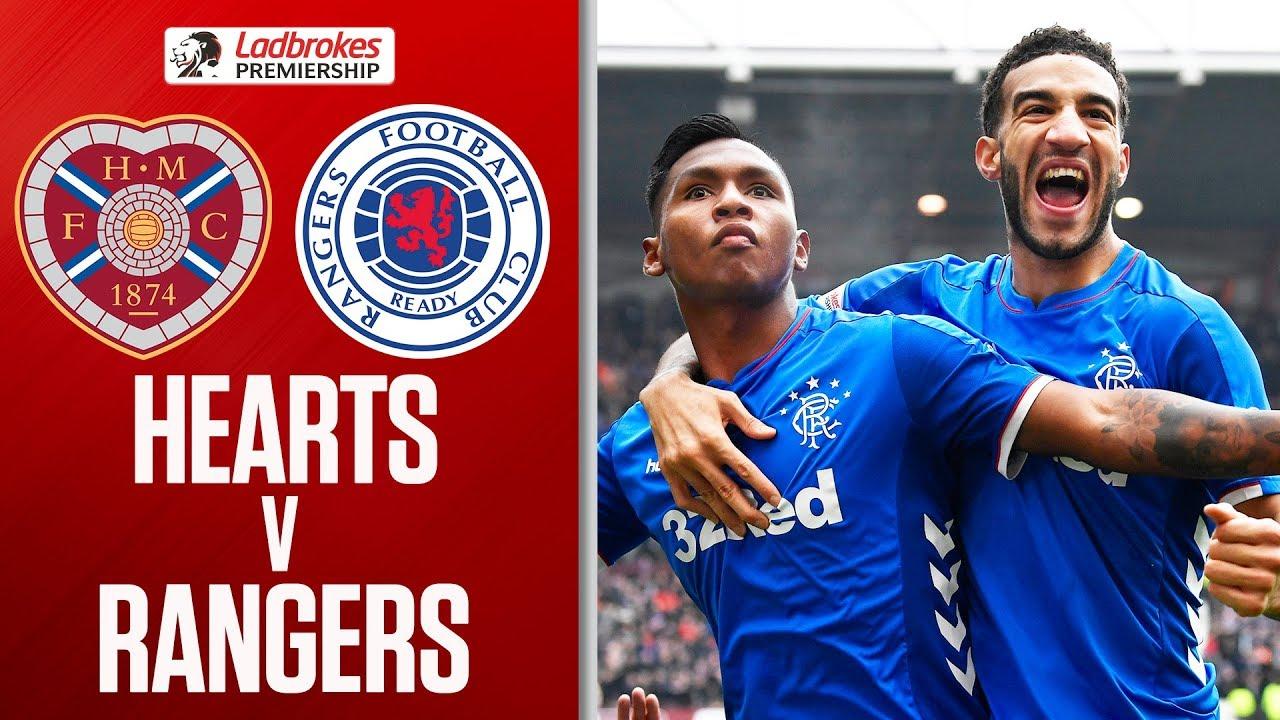 Hearts 1 2 Rangers Gers Go Top Of The League Ladbrokes Premiership