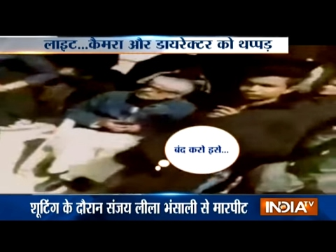 Rajputs Slap Sanjay Leela Bhansali during Padmavati Shooting in Jaipur