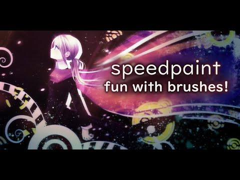 Fun with brushes! (Paint Tool Sai + Photoshop) - YouTube