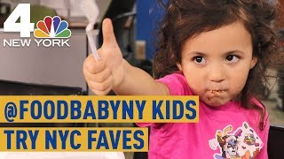 Instagram-Famous 'Food Baby' Kids Rate New York Staple Foods