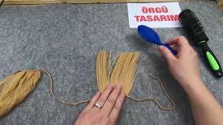 Oyuncak bebekler için pratik orijinal görünümlü saç yapılışı