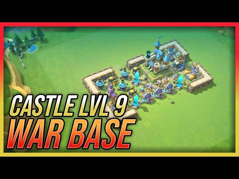 Castle Lvl 9 War Base | Best Defense Strategy | Castle Clash : New Dawn (Layout)