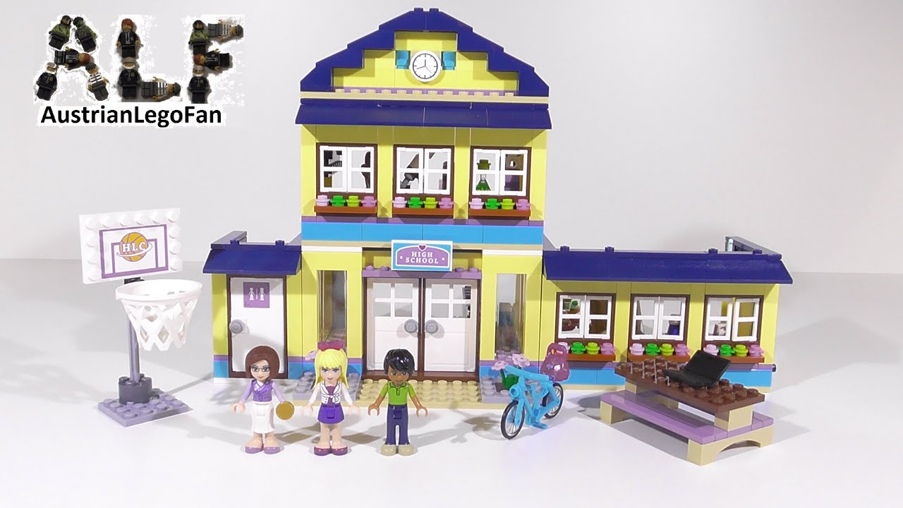 Lego Friends 41005 Heartlake High Lego Speed Build Review Youtube