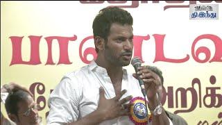 Vishal's Pandavar Ani Election Manifesto | Vishal | Karthi | Nassar