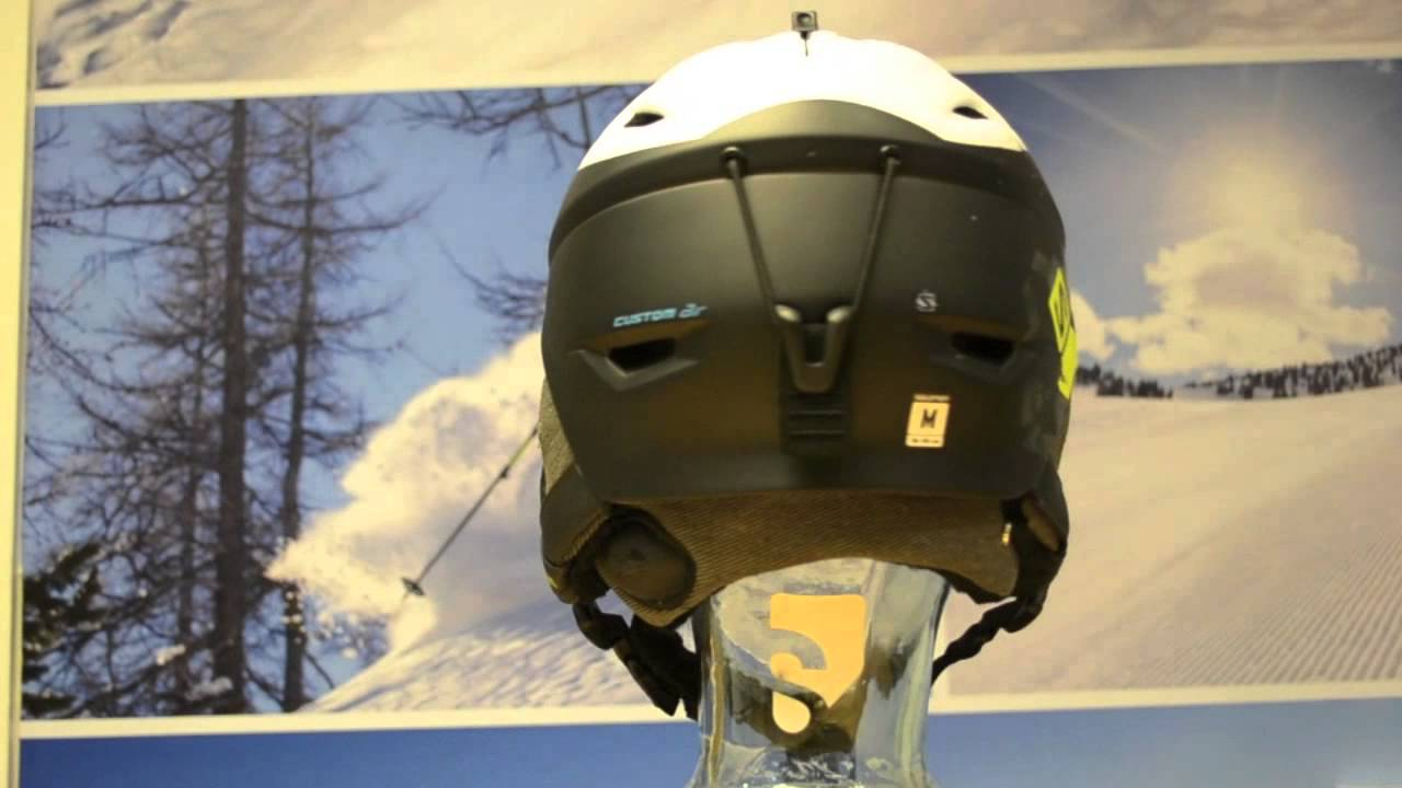 2015 Salomon Allium Custom Air Ski Helmet White Black Matt 360° View Sail and Ski