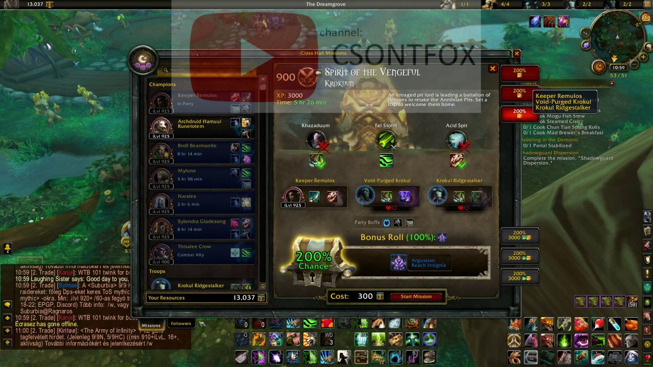 World of Warcraft Addon: Garrison Mission Manager
