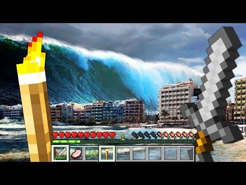 REALISTIC TSUNAMI IN MINECRAFT | Minecraft - Mod Battle Challenge