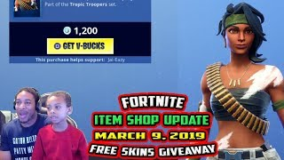 FORTNITE ITEM SHOP UPDATE - BANDOLETTE SKIN - CHOPPA GLIDER - 10 MARS 2019