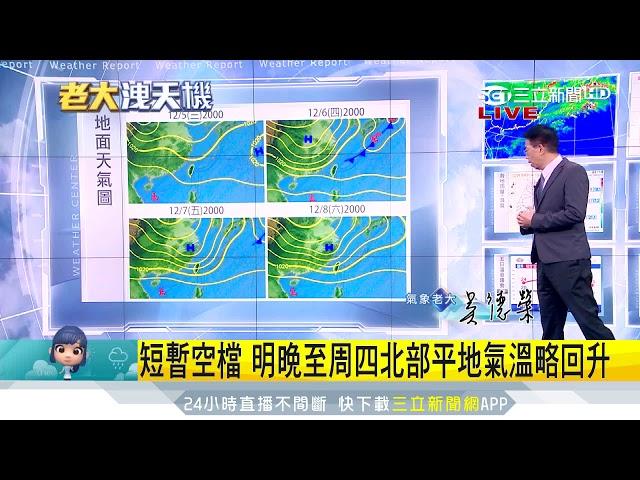 陰雨綿綿!明桃園以北雲量增多 局部有雨 三立準氣象 20181204 三立新聞台