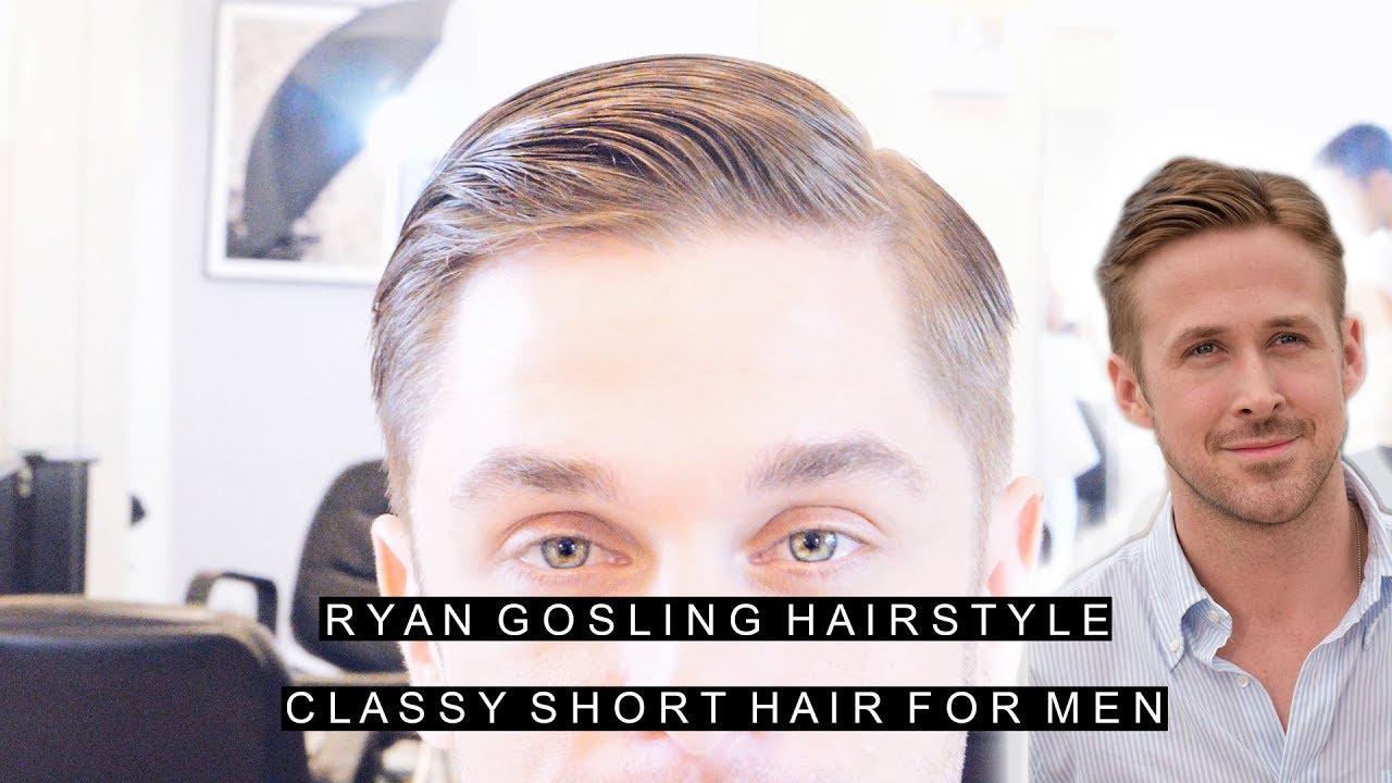 Ryan Gosling Hairstyle Classy Short Hair For Men Easy Slick
