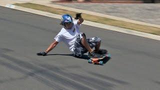 DH Tutorial instruction on Skateboard Longboard Sliding down hills.