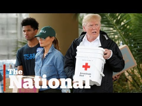 Trump visits Harvey victims in Texas