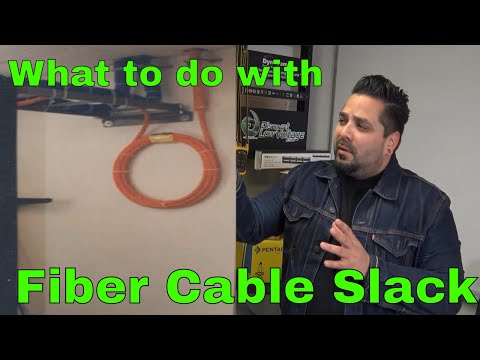 What to do with Cable Slack from your Pre-Terminated Fiber Optic Cable Assembly