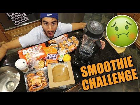 EVERY HALLOWEEN FOOD SMOOTHIE CHALLENGE ft. Derek Gerard