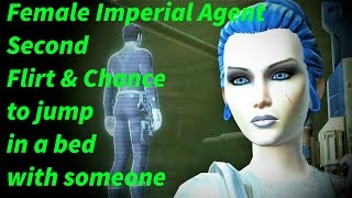 swtor female imperial agent second flirt and jump in a bed option sanju pyne