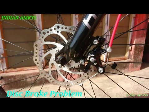 Bicycle Fix Disc Brake Problem And Remove Sound Powerfull Disc Brake Repair in [Hindi] INDIAN AMKYS