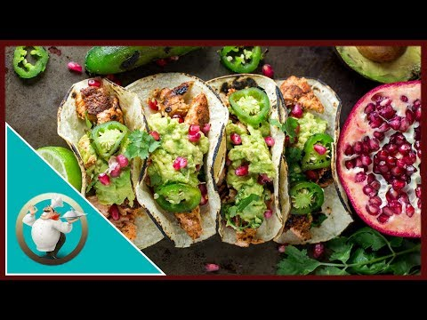 The BEST Salmon Tacos | Salmon Tacos in 30 minutes | Salmon Tacos with Pomegranate Guacamole