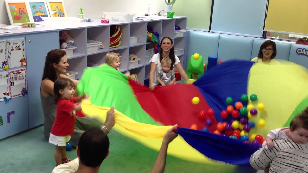Discoveries Baby Gym Class Parachute Game Youtube