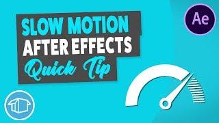 Pürüzsüz Yavaş Hareket Video - After Effects Öğretici Hızlı İpucu