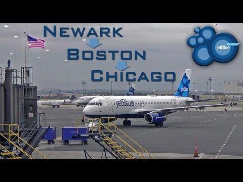 FLIGHT REPORT | JetBlue Airways (Economy) | Airbus A320/Embraer 190 |  Newark - Boston - Chicago
