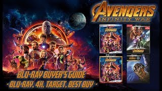 AVENGERS: INFINITY WAR - 4K/BLURAY UNBOXING (4K, BLURAY, BEST BUY, TARGET) BLURAY BUYERS GUIDE