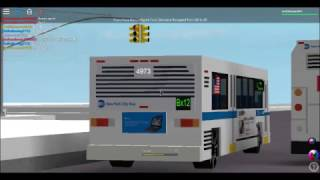 (ROBLOX MTA New York City Bus: Novabus RTS #4973 On the Bx12 and Orion 7 NG HEV #4414 Bx24 bus