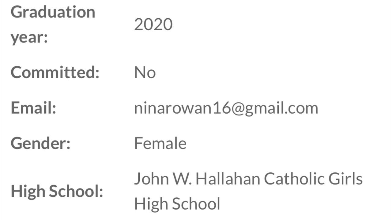 Rowan Graduation 2020.Nina Rowan Class Of 2020